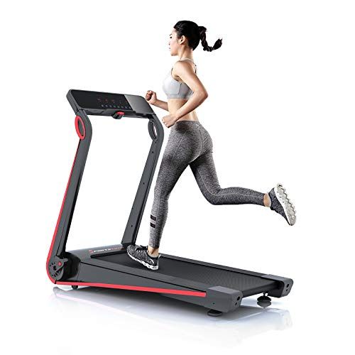 Sportstech F17 Edles Laufband - Live Videos & Multiplayer APP & Easy-Folding System | Top Marke Smart Home 06/20 | kein Aufbau, 12 KM/H, 2.5PS, Pulsgurt + Schmiersystem für Ihr Cardio-Training Zuhause