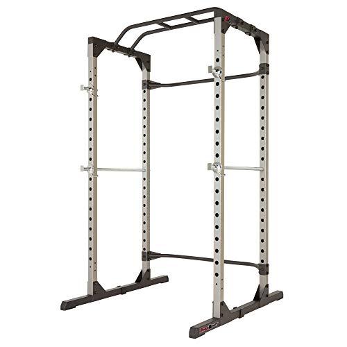 Fitness Reality 810XLT Super Max Power Rack Cage, Sport Kraftstation mit 363 kg maximaler Belastung, mit Klimmzug-Stange und Leisten zur Hantel-Ablage