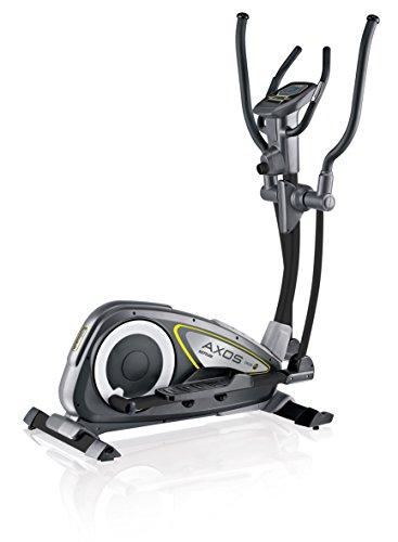 Kettler Crosstrainer Axos Cross M – Heimtrainer mit Trainingscomputer, Pulsmessern und 12 kg Schwungmasse – Cardiogerät für Muskelaufbau und Verbesserung der Ausdauer – schwarz, gelb & anthrazit