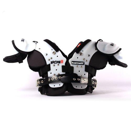 BARNETT Vision II American Football Schulterschutz, sehr leicht, Gr M, Farbe schwarz
