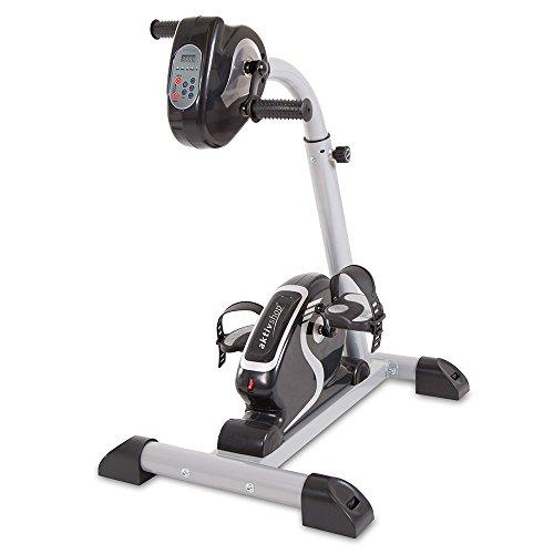 maxVitalis Bewegungstrainer Arm- und Beintrainer 2in1 mit Motor Pedaltrainer mit Trainingsdisplay Massage-Handgriffe Arm- und Beintrainer 2.1