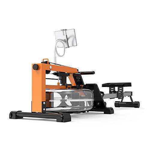 PUCHIKA Rudergerät Klappbar mit Leises Magnetbremssystem, mit Wasserwiderstand Pulsgurt für Zuhause, Rudermaschine mit Video Fitness.
