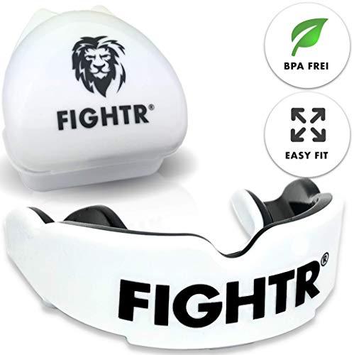 FIGHTR Premium Mundschutz   max.Sauerstoff und Sicherheit + Easy fit   BPA freier Zahnschutz inkl. Box   Boxen, MMA, Muay Thai …