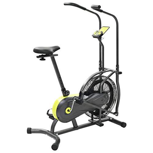 vidaXL Airbike Heimtrainer 40cm Fitnessbike Ergometer Hometrainer Crosstrainer