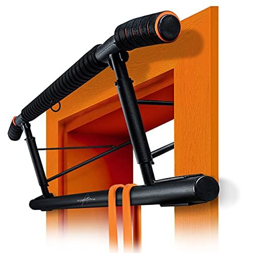 AthleticPro [Das Original - Klimmzugstange für Türrahmen - Stark belastbare Pull up bar [bis 200 KG]- Türreck ohne Aufbau - Auch für Dips & Push Ups