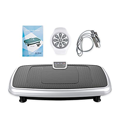 JUFIT Fitness Vibrationsplatte Ganzkörper Trainingsgerät Profi Vibrationsgerät mit Oszillationstechnologie für zu Hause mit 30 Intensitätsstufen, LED Screen&Wirst Fernbedienung
