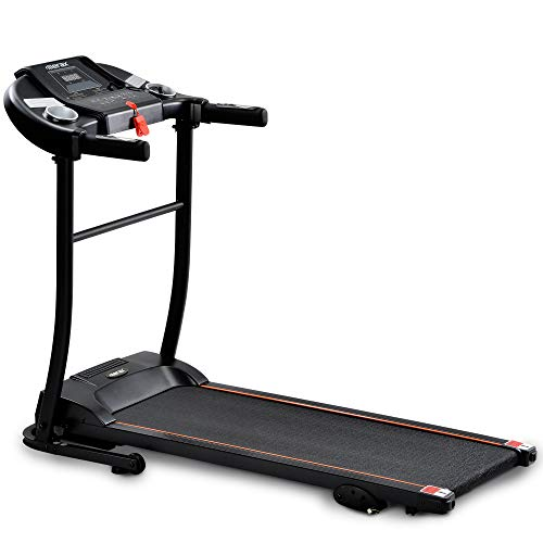 Merax Treadmill elektrisches Laufband Klappbar,1,5Ps,12 Km/h,12 Laufprogramme Tablet Halterung USB, AUX and Bluetooth connectivity and LED Display