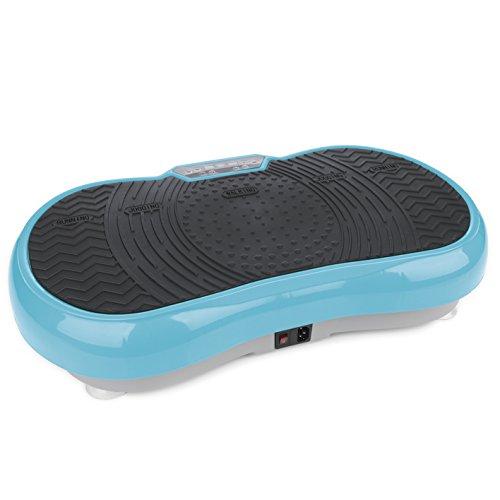 VITALmaxx Vibrationsplatte mit 99 Vibrationsstufen und 10 Programmen und LCD-Display |gelenkschonendes Ganzkörpertraining zu Hause, inklusive Expanderbänder