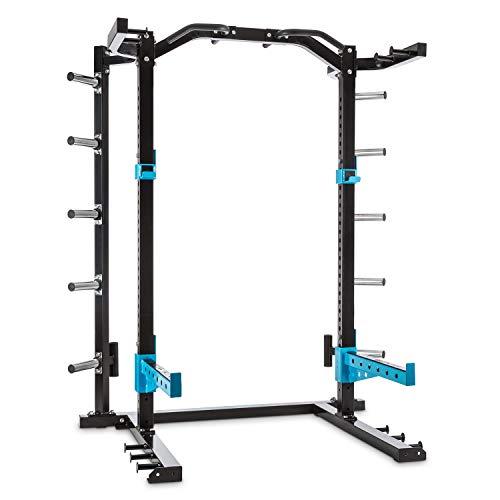 Capital Sports Amazor - Basic Power Rack, Safety Spotter: max. 500 kg, J-Cups: max. 350 kg, Klimmzugstange: max. 150 kg, pulverbeschichteter Stahl, Hauptträger: 60 x 60 x 2 mm (BxTxØ), schwarz/gelb