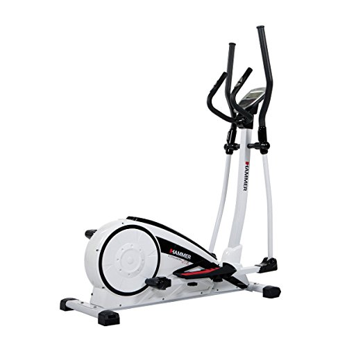 Hammer Crosstrainer Crosslife - Cardiotraining für Zuhause - LCD-Display - Push & Turn-Drehknopf - Elektronisches Magnetbremssystem - Heimtrainer - Ergometer - 18 kg Schwungmasse
