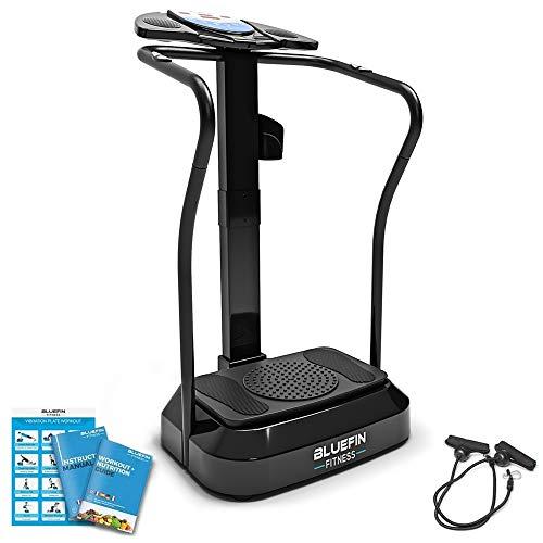 Bluefin Fitness Vibrationsplatte Pro Modell | Verbessertes Design mit Leisen Motoren und Eingebauten Lautsprechern