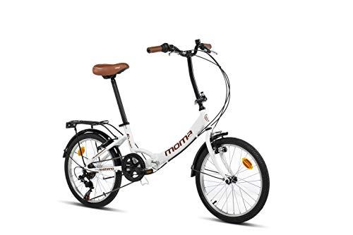 Moma Bikes Unisex– Erwachsene First Class weiß Klappräder