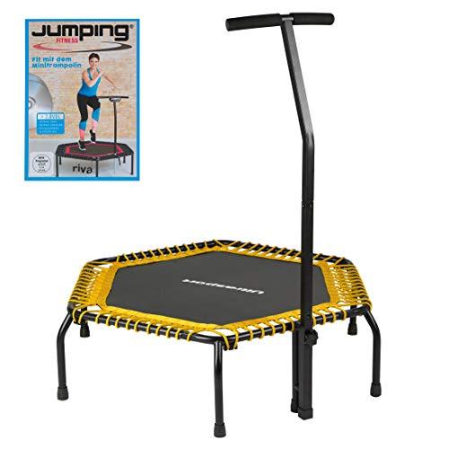 Ultrasport Fitness Trampolin,Ø ca.120cm, 5-fach höhenverstellbarer Haltegriff,sehr leise Gummiseilfederung,Jumping Fitness & Indoor geeignet,komfortable Griffummantelung aus Schaumstoff,2 Variaten