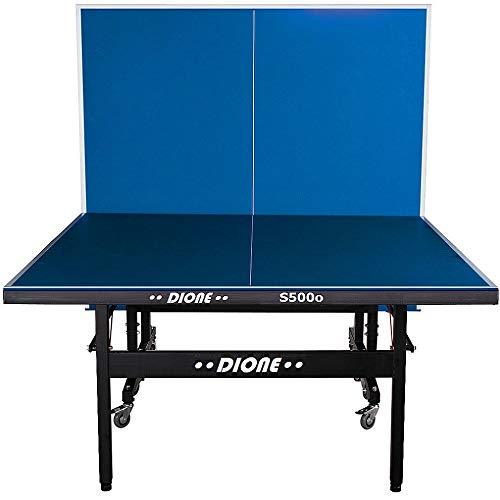 Dione Tischtennistisch S500o - 6mm top - Outdoor Klapp - Rollbar Tischtennisplatte für draußen - Wetterfeste TT-Tisch 55kg - 10 Minuten Installation