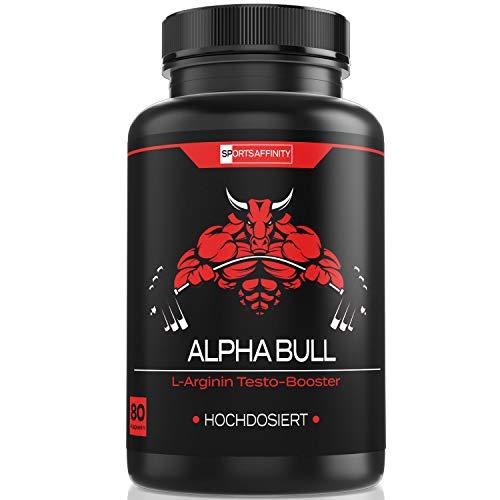 ALPHA BULL For Men [Hochdosiert] » Markenartikel Kur Beliebt im Bodybuilding, Gym und Muskelaufbau - Energie Booster für Männer « Fitness Sport Tabletten - in 80 Kapseln