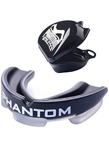 Phantom Athletics Mundschutz - Sport Zahnschutz - Kampfsport, Boxen - Erwachsene (Schwarz)
