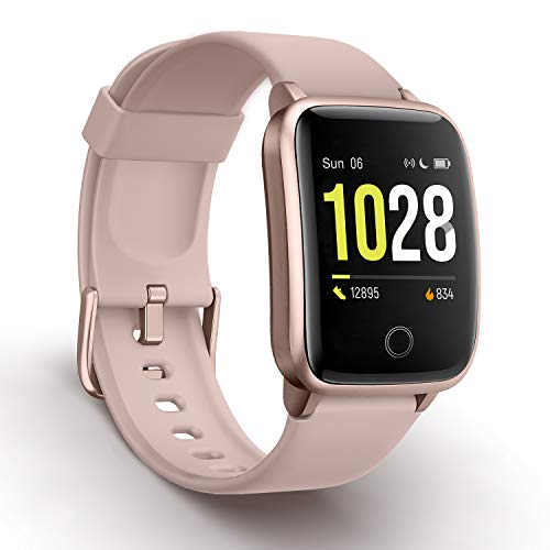 Vigorun Smartwatch Fitness-Tracker, Fitness Armband mit Pulsmesser Schritt Kalorienzähler-Tracker, Aktivitätstracker IP68 Wasserdichter Schrittzähler Kompatibel mit iOS, Android für Frauen, Männer