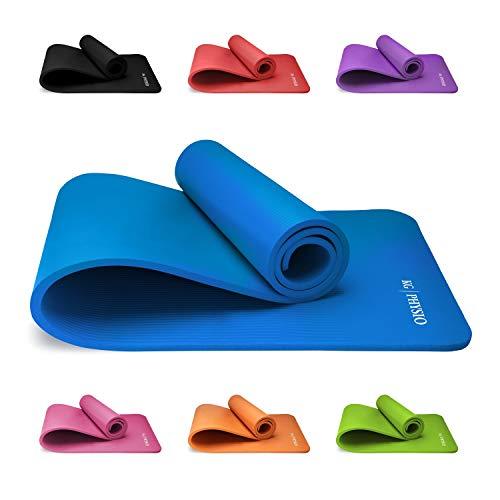 KG Physio Yogamatte Rutschfest - Sportmatte, Gymnastikmatte, Fitnessmatte, Trainingsmatte mit Tragegurt - Schadstofffrei Yoga Matte Ideal für Sport, Fitness und Yoga zuhause - 183cm x 60cm x 10mm