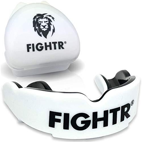 FIGHTR® Premium Mundschutz - ideale Atmung & leicht Anpassbar | Sport Zahnschutz für Boxen, MMA, Muay Thai, Hockey & Kampfsport | inkl. Hygiene Box
