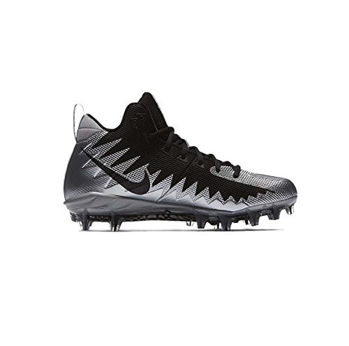 Nike Herren alpha menace pro mid football klampe 10 uk metallic-silber-schwarz