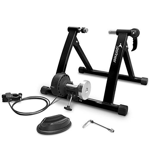 Sportneer Fahrradtrainer, Fahrrad Rollentrainer Stahl Fahrrad Übung Magnetischer Ständer mit Geräusch Reduktions