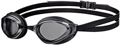 arena Unisex Training Wettkampf Schwimmbrille Python (UV-Schutz, Anti-Fog Beschichtung, Harte Gläser), Smoke-Black (50), One Size
