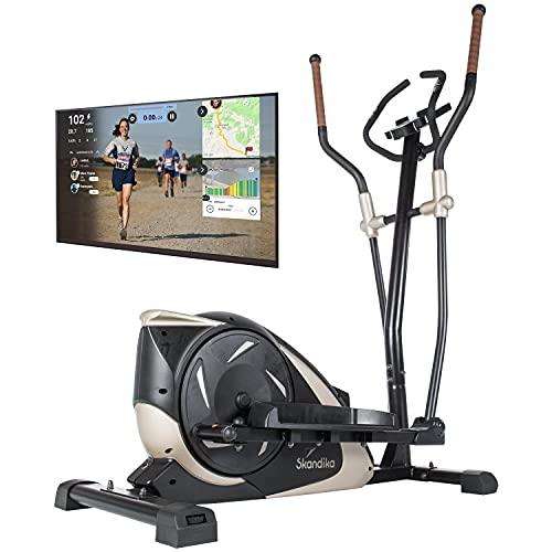 skandika Crosstrainer Eleganse/Adrett   Design Hometrainer mit Bluetooth, App-Steuerung (z.B. Kinomap), Tablethalterung, Magnetbremssystem, 12kg Schwungmasse, 32 Stufen   bis 130kg