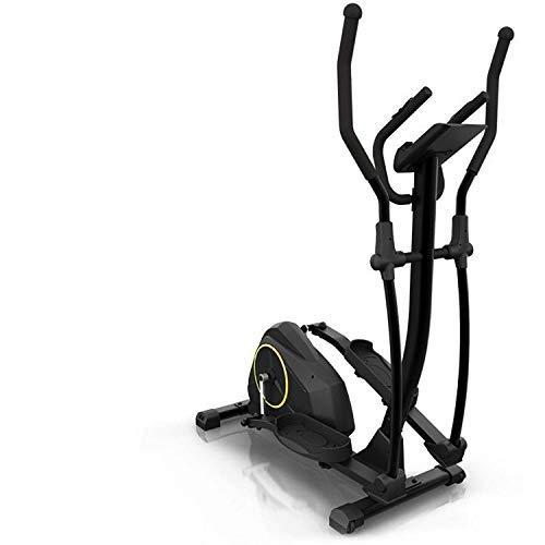 Klarfit Epsylon Cross AS Crosstrainer, Riemenantrieb mit SilentBelt System, 12 kg Schwungmasse, 24 Widerstands-Stufen, Pulsmesser, Tablet-Halterung, TÜV-geprüft, Stahlrahmen, max. 120 kg, schwarz