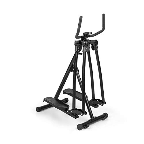 Capital Sports Crosswalker Air-Walker Crosstrainer, vertikale & horizontale Schwingbewegung, Ganzkörpertraining, rutschfeste Trittfläche, Handläufe, Trainingscomputer, bis 100 kg, schwarz