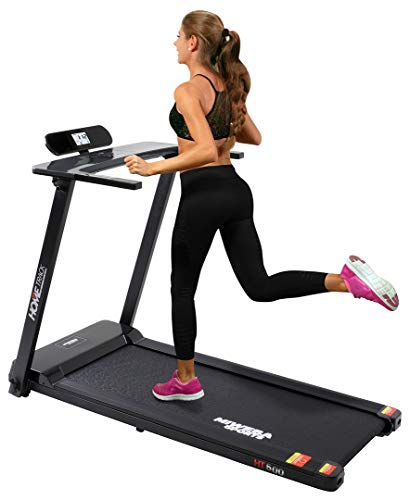 Miweba Sports elektrisches Laufband HT500 - Klappbar - 3 Ps - 14 Km/h - 12 Laufprogramme - Tablet Halterung - Große Lauffläche (Schwarz)