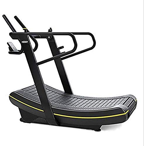 Laufband faltbar, unberührtes Laufband Gebogene Holzgymnastik Fitnessgeräte Portfolio Selbstbetriebene Laufband (Farbe: a) BJY969 (Color : B)