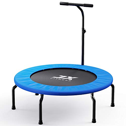 Fitness Trampolin 40Zoll Faltbar Rebounder für Körpertraining und Cardio Workout Spaß für Erwachsene und Kinder Indoor Outdoor Jumping - leistungsstark bis 120 kg Benutzergewicht