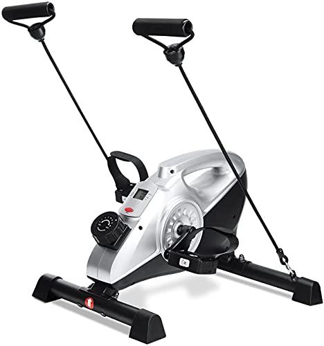 Mini Bike Heimtrainer Pedaltrainer Hometrainer Arm- und Beintrainer, unter dem Tisch mit LCD-Monitor und einstellbarem Widerstand für Beine und Arme