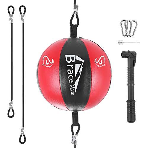 Brace Master Air Doppelendbälle Geschwindigkeitstrainingsball für das Boxen MMA Speed Trainingsanzug für Männer und Frauen (Rot)