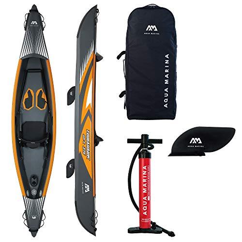 Aquamarina Unisex– Erwachsene Kayak 1 Posto Tomahawk Air-375 Kajak, Schwarz/Orange, Uni