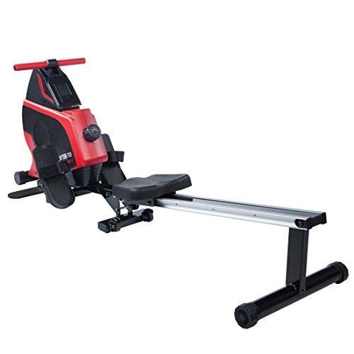 Ultrasport Drafter 600 Rudergerät, Rudermaschine mit Trainingscomputer und 8 Widerstandsleveln, Fitnessgerät, klappbar und platzsparend, diverse Zusatzübungen möglich durch Klappfunktion,