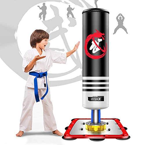 Dripex Boxsack Kinder Freistehender Standboxsack Boxpartner Boxing Trainer Punching Bag(Schwarz)