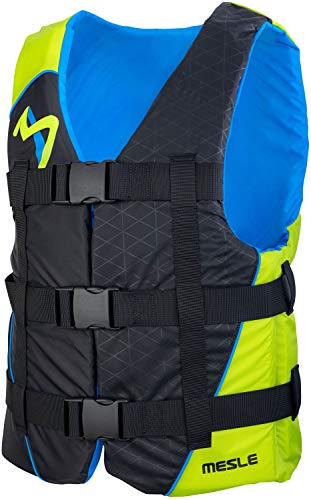 MESLE Schwimmhilfe H210, 2XS-4XL, 50-N Auftriebsweste Prallschutz Schwimmhilfe, für Erwachsene Jugendliche Kinder, Wasserski Wakeboard Impact-Vest Paddel-Weste, Farbe:Lime, Größe:2XS