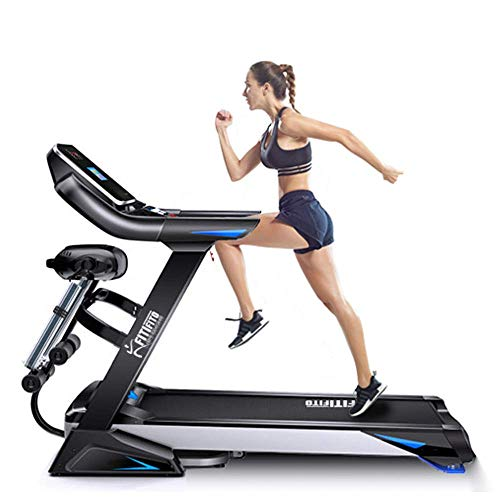 Fitifito keeps you in shape klappbares FT800 Profi-Laufband 20.0km/h, 3PS, 7' LED Display, Multifunktion mit Bauchtraining, Belastung bis 150Kg, 6 Zonen Profidämpfung