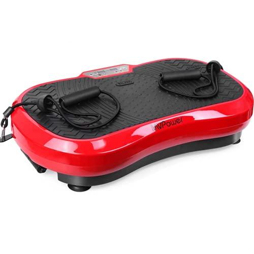 MVPower Vibrationsplatte extra groß Slim und rutschfest, mit Ultra leisem Motor, Ganzkörpertraining zu Hause | Body Shaping Muskel Bauen | Trainingsbänder, 3 Trainingsprogramme,120 Stufen