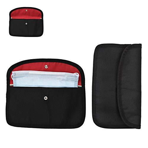 2X Modische Masken-Tasche für Damen & Herren   Alternative zur Maskenbox für Mundschutz & Aufbewahrungsbox für Masken   Ideal zur Vermeidung von Maskenverschmutzung für Unterwegs Schule Büro