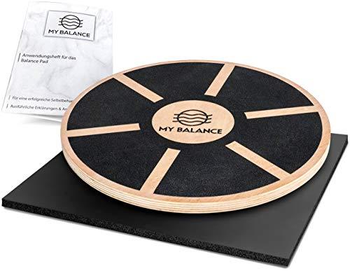 My Balance® Balance Board + GRATIS Anwendungsheft 24seitig | Wackelbrett für Fitness und Physiotherapie zur Stärkung der Tiefenmuskulatur | Verbessert Gleichgewicht, Kraft und Koordination