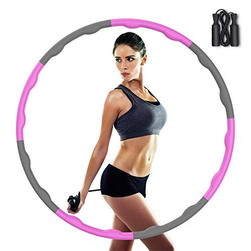 Tinzzi Hula Hoop Reifen, Hula Hoop Fitness Reifen zur Gewichtsreduktion, Hula Hoop für Erwachsene & Kinder, 8 Abschnitte des abnehmbaren Hoola Hoop für Training/Büro/Zuhause