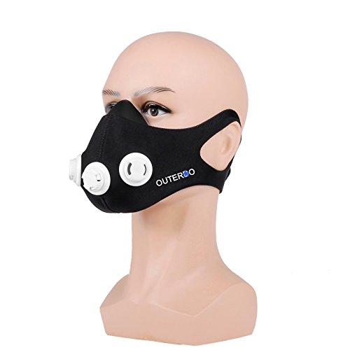 Trainingsmaske OUTERDO professionelle Athletik Atemmaske Staubresistenz Elevation und Ausdauer Training Maske 2.0 für anaerobes Training & Höhentraining