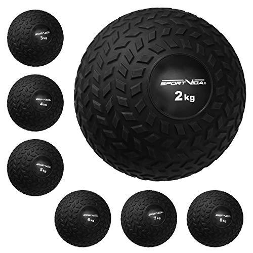 Slam Ball Gummi Medizinball. Fitnessball Gewicht 2-8 kg mit Griffiger Oberfläche. Durchmesser Medizinballs 23 cm. rutschfest Trainingsball für Sport. (3 KG)