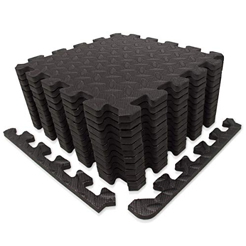 diMio Sport-Schutzmatten - Puzzlematten inkl. Randstücke in verschiedenen Größen und Farben - Schutzmatte/Unterlegmatte/Fitnessmatte/Bodenschutz Matte