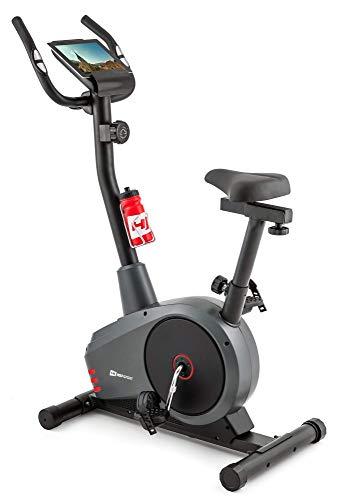 Hop-Sport Heimtrainer HS-2080 Ergometer Fitnessgerät mit Pulssensoren & Computer (Rot)
