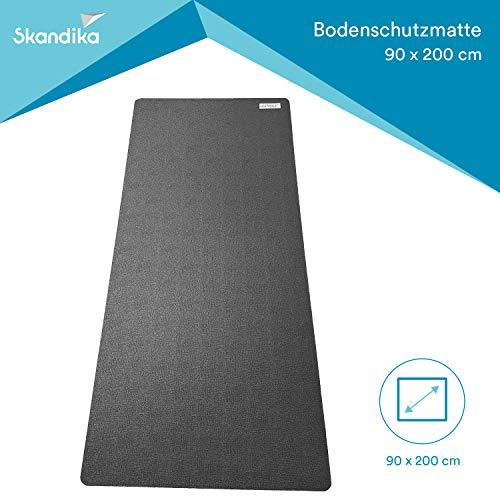 Skandika Bodenschutzmatte für Fitnessgeräte (90x200cm) Made in Germany, 8mm. Heimtrainer oder auch große Maschinen. Sport Multifunktionsmatte, Fitnessmatte, für mehr Stabilität, schützt den Boden, Übungsmatte für Yoga, Pilates