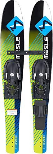 MESLE Combo-Ski Easy Go 137 cm, Kinder und Jugend Wasserski, Trainer Bar, mit Monoschlaufe, grün blau schwarz