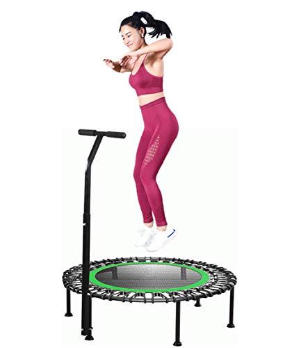 Rucae Fitness Trampolin Indoor Klein - ca 137cm Trampolin mit Haltegriff, Benutzergewicht Bis zu 250 kg,Trampoline Geeignet für Erwachsene & Kinder,Outdoor&Indoor,Sportgerät Fitnessgeräte für Zuhause